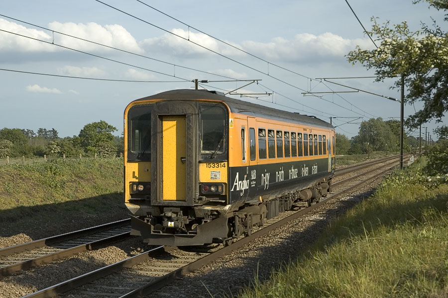 ... Anglia over the years, 153314 with the traditional size numbers in  2005, the same size numbers are still in use on the units still in Anglia  turquoise: